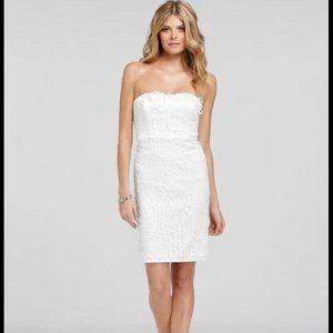 Ann Taylor Strapless White Dress, NWT